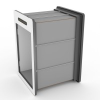 tunnelset - 50cm - large - HPL - grey/white