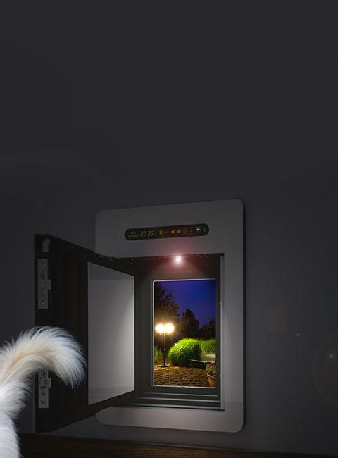 Insulated dog door / dog flap, made by petWALK.
